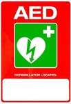 AED location sticker